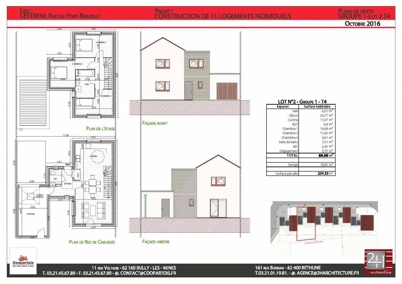 Maison neuve 3 chambres rt 2012 lestrem 62136 n 2 coopartois - Exoneration taxe fonciere maison neuve ...