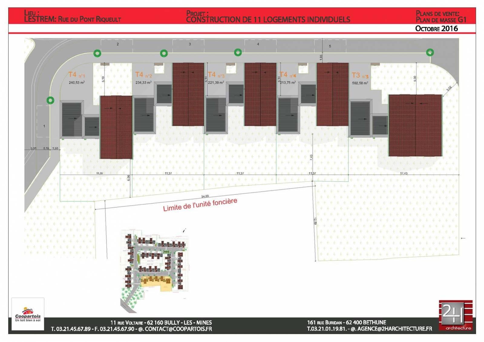 Lestrem 62136 maison neuve 3 chambres rt 2012 coopartois - La maison ysy par le studio auau ...