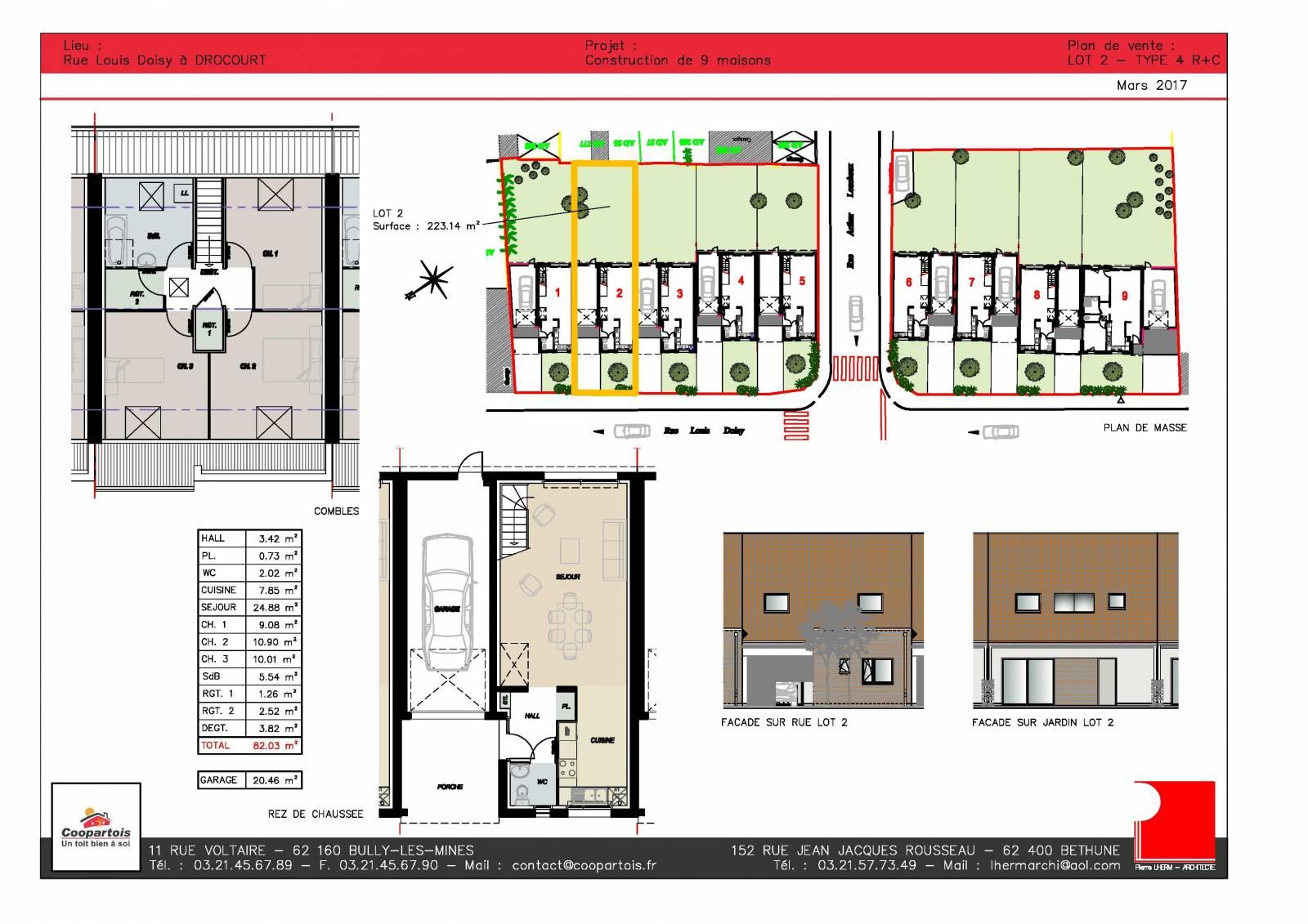 Maison neuve 3 chambres rt 2012 2 coopartois - Exoneration taxe fonciere maison neuve ...