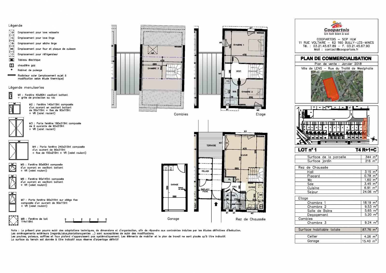 Maison neuve 3 chambres duplex n 2 coopartois for Plan duplex 3 chambres
