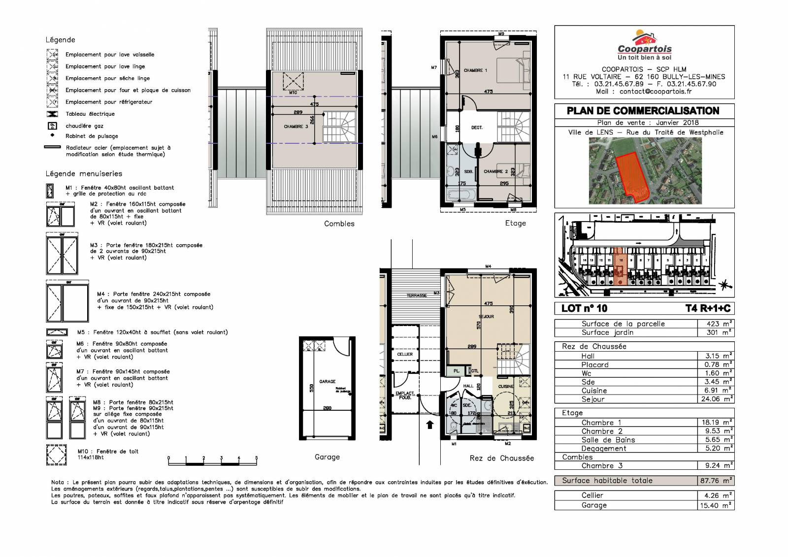 Maison neuve 3 chambres duplex n 10 coopartois for Plan de maison duplex 3 chambres