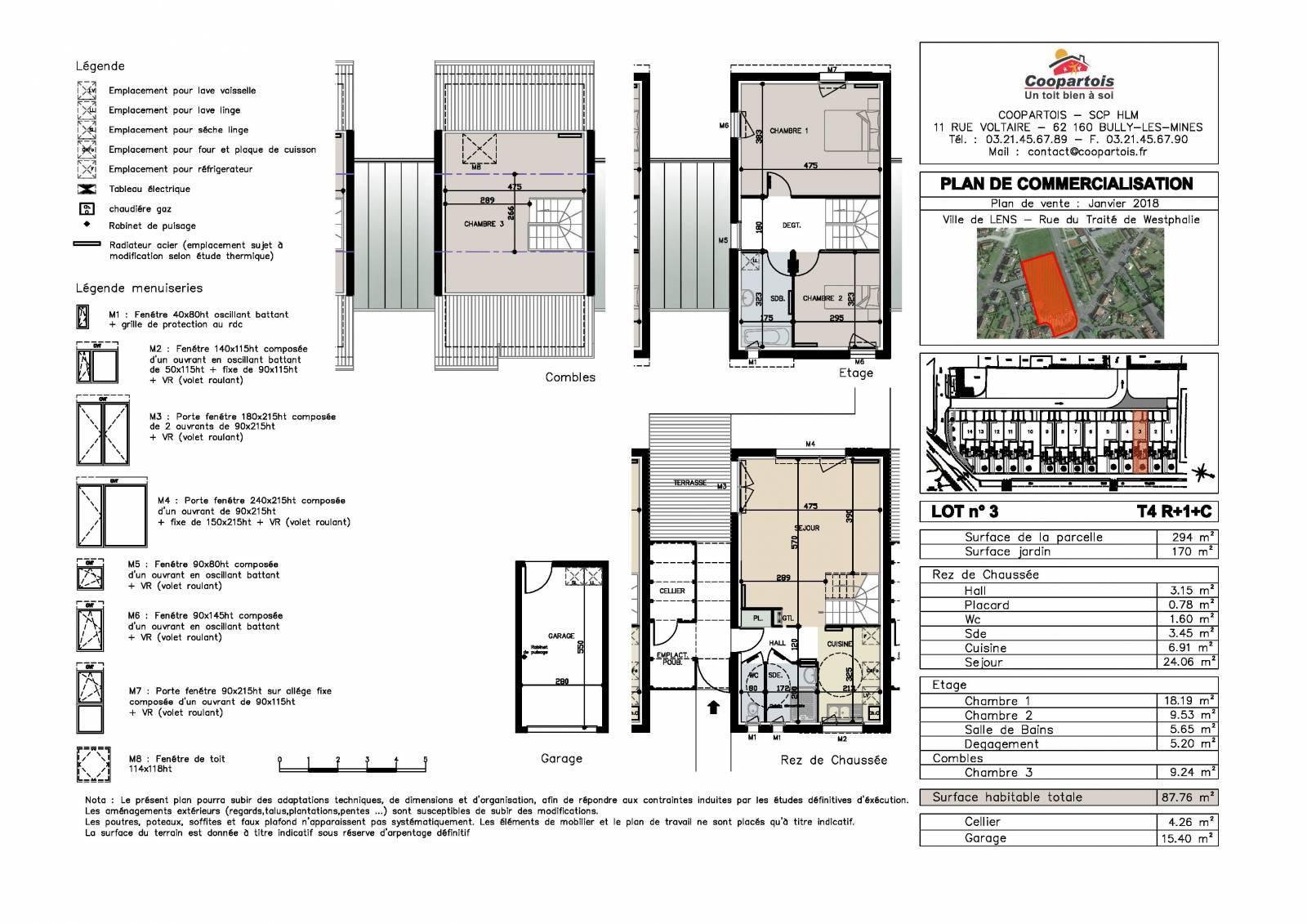 Maison neuve 3 chambres duplex n 3 coopartois for Plan duplex 3 chambres