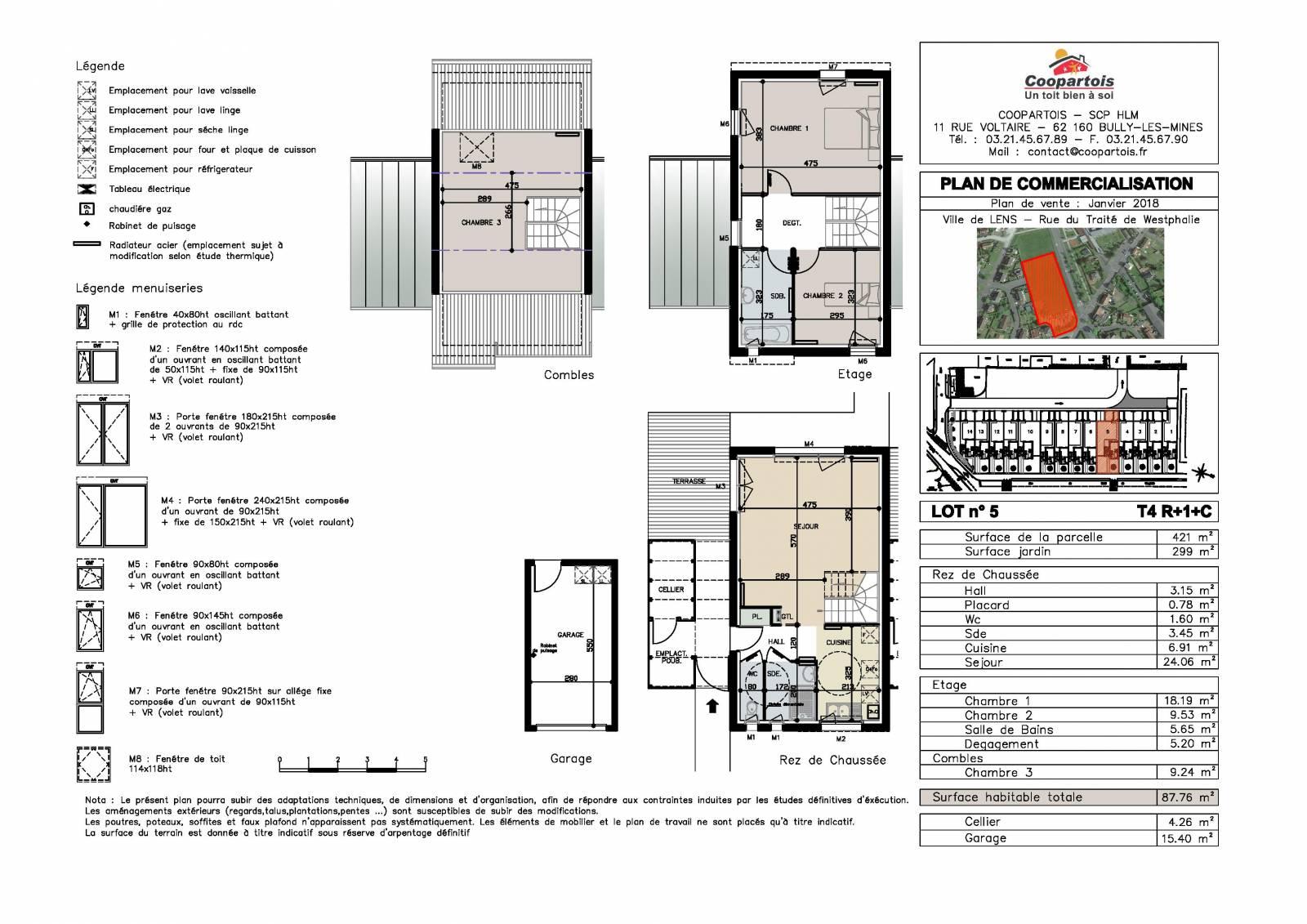 Maison neuve 3 chambres duplex n 5 coopartois for Plan duplex 3 chambres