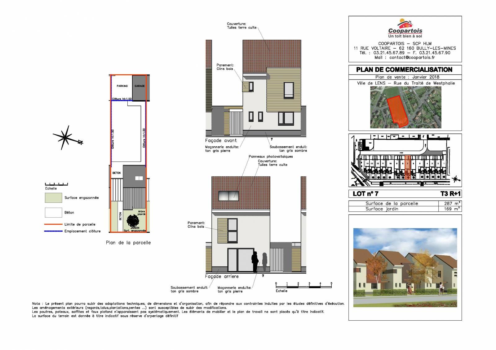 Maison neuve 2 chambres etage n 7 coopartois for Plan maison 7 chambres