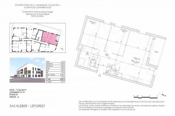 Appartement 2 chambres à LEFOREST